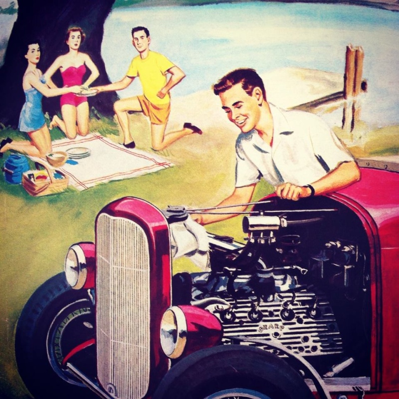 Vintage hot rod illustrations 10731014