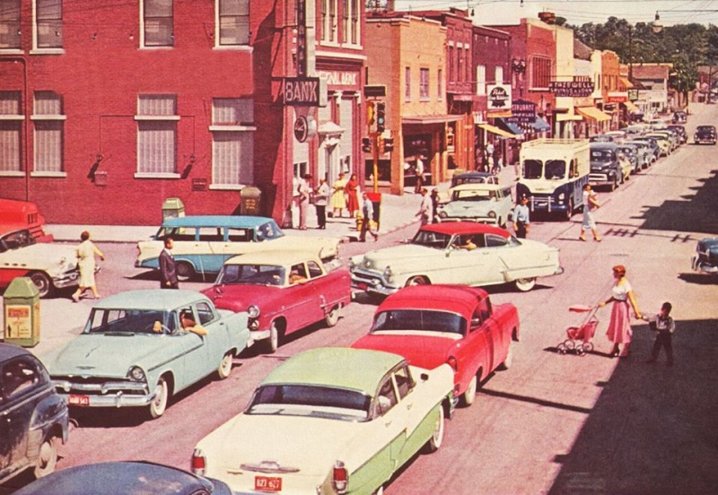 Rues fifties et sixties avec autos - 1950's & 1960's streets with cars - Page 2 10802010