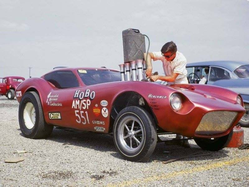 1950's & 1960's hot rod & dragster race 14598811