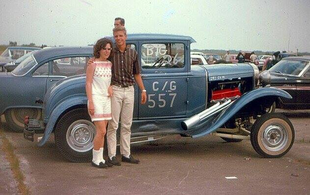 1950's & 1960's hot rod & dragster race 14686810