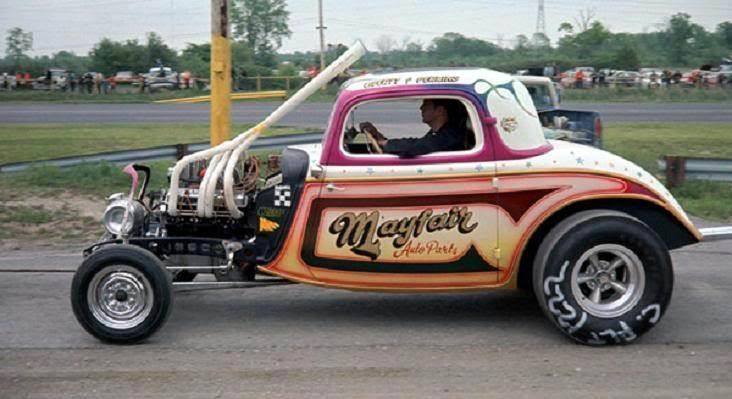 1950's & 1960's hot rod & dragster race 15067110
