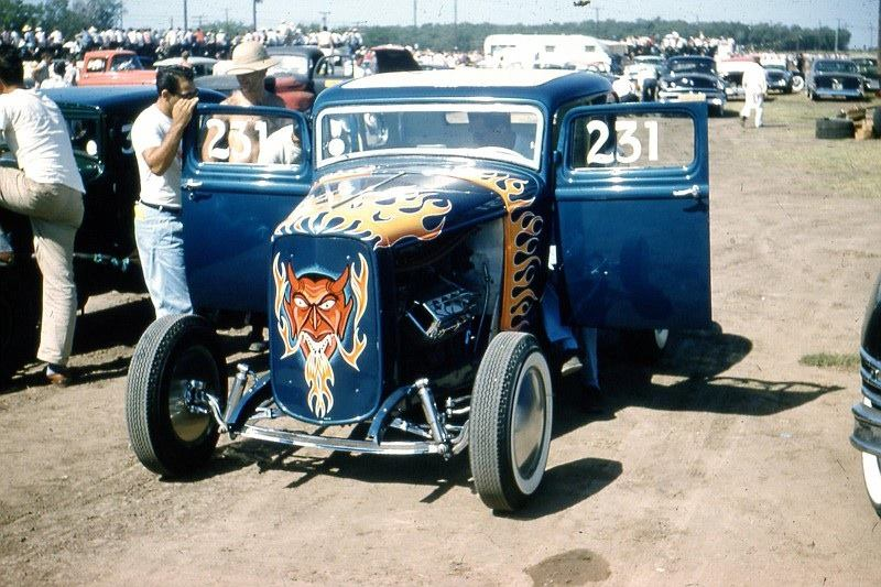 1950's & 1960's hot rod & dragster race 15175410