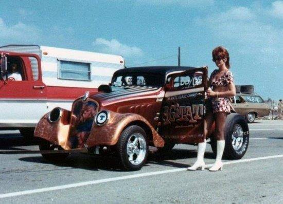 1950's & 1960's hot rod & dragster race 15214410