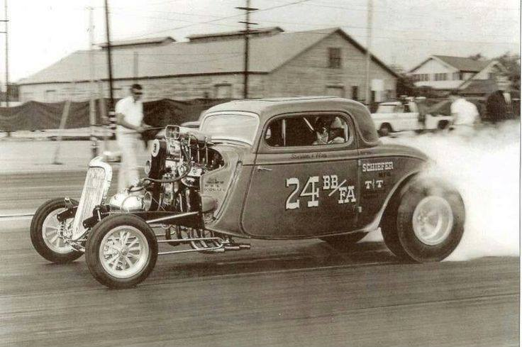 1950's & 1960's hot rod & dragster race 15252110