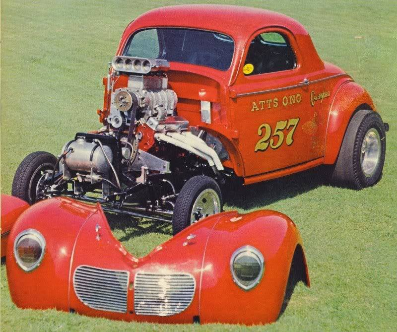 1950's & 1960's hot rod & dragster race 15257110