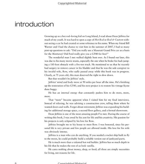 Dean Jeffries: 50 Fabulous Years in Hot Rods, Racing & Fil - Tom Cotter - motorbooks 428