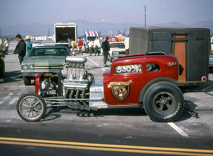 1950's & 1960's hot rod & dragster race 99675310
