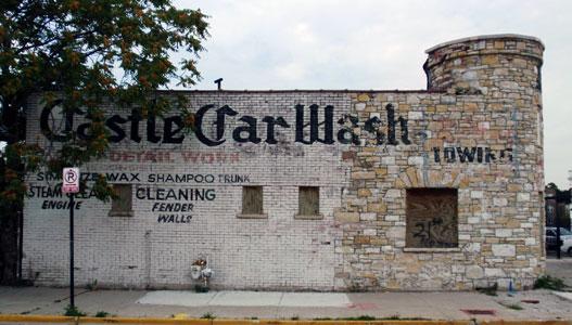 Car Wash 1950s - 1960s - Centre de lavage auto Cw410