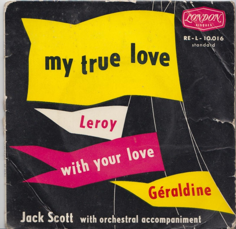 Jack Scott - My True love /Leroy / With your love /Geraldine - EP London - Carlton Jacksc10