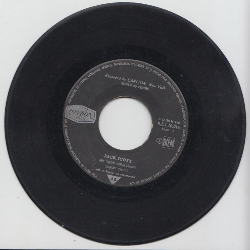 Jack Scott - My True love /Leroy / With your love /Geraldine - EP London - Carlton Jacksc12
