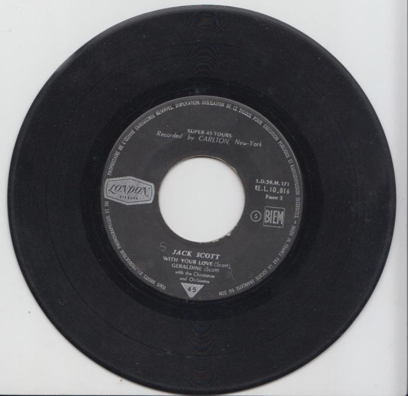 Jack Scott - My True love /Leroy / With your love /Geraldine - EP London - Carlton Jacksc18