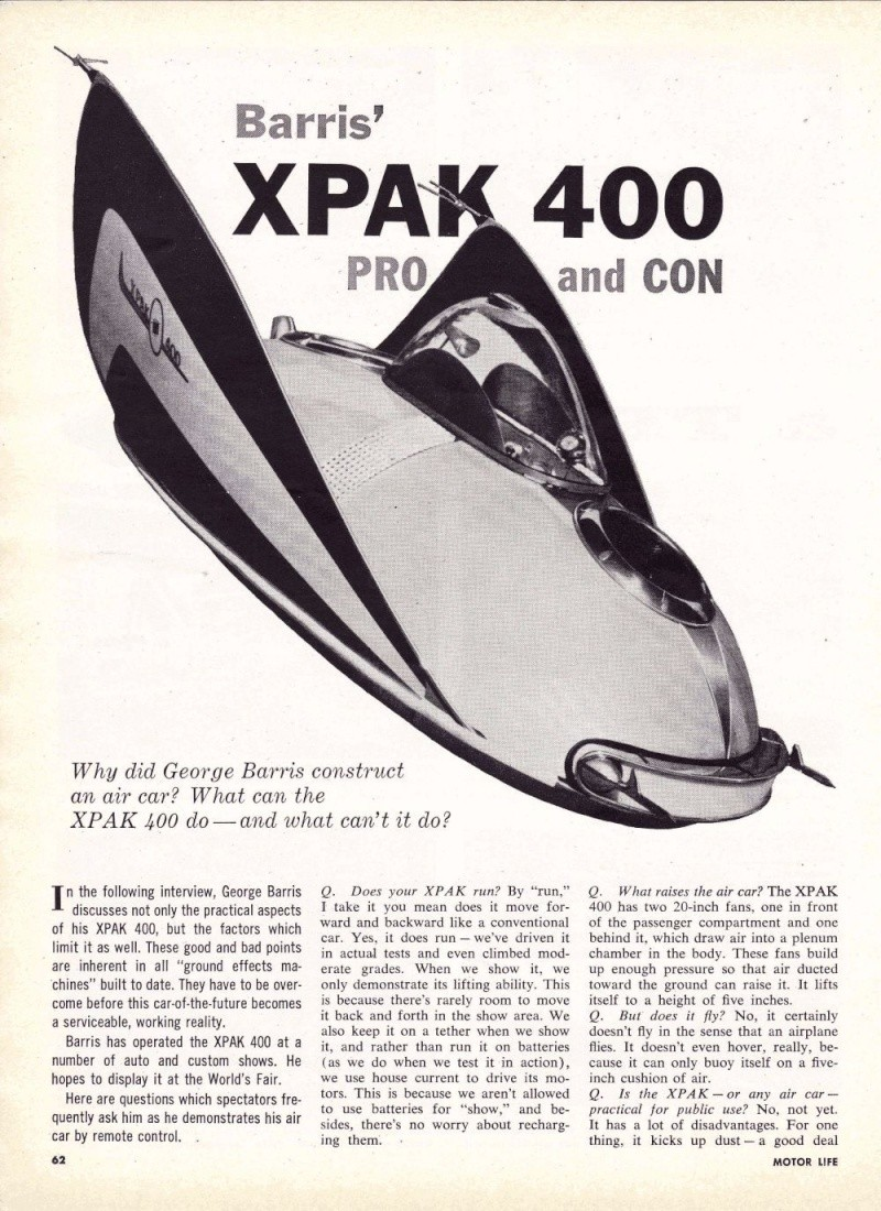 XPAK 400  - George Barris Kgrhqn15
