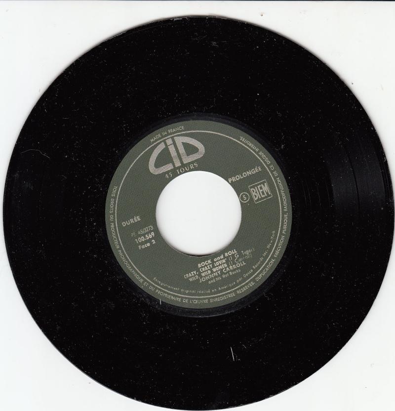 Johnny Carroll and his Hot Rocks - Hot Rock / Corrine, Corrina / Crazy, Crazy, lovin' / Wild wild women - Ep CID Sans-t12