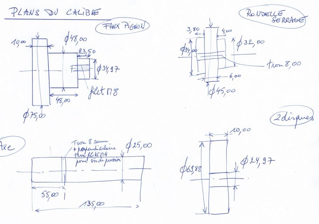 Les calibres pour régler la profondeur du pignon d'attaque Cci04010