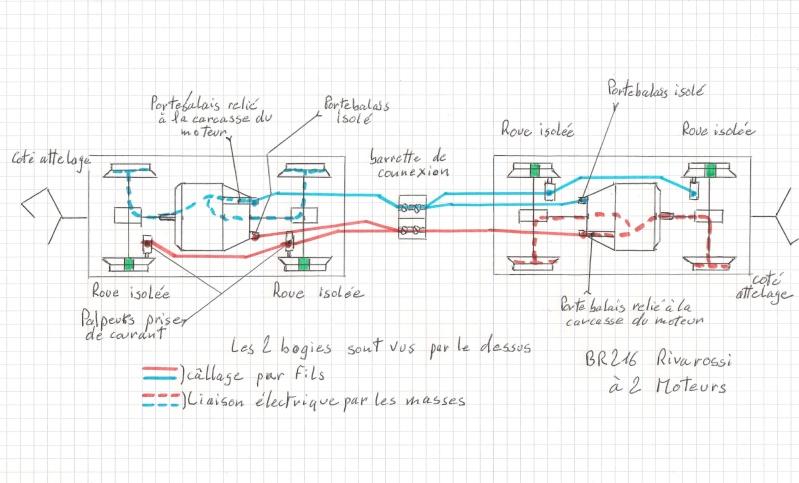 Essai de montage d'un 2ème moteur sur la BR216 Rivarossi Br216_20