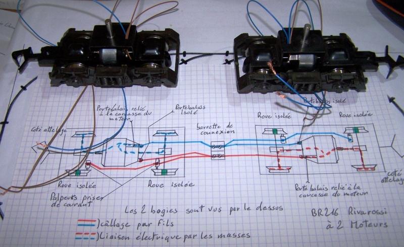 Essai de montage d'un 2ème moteur sur la BR216 Rivarossi Br216_23