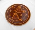 Slip design platter - flower mark Dscn8810