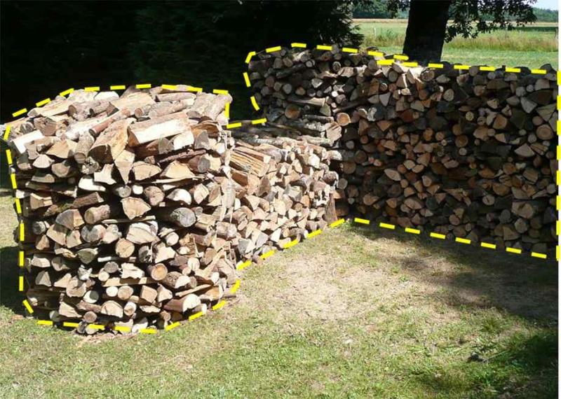 Une meule pour stocker son bois : Bois10