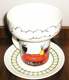 For gallery crown lynn tootle train with the 5029 Cereal Bowl X_toot10