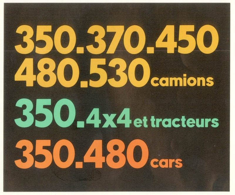 Brochure publicitaire de Camions Tracteurs et cars Camion25