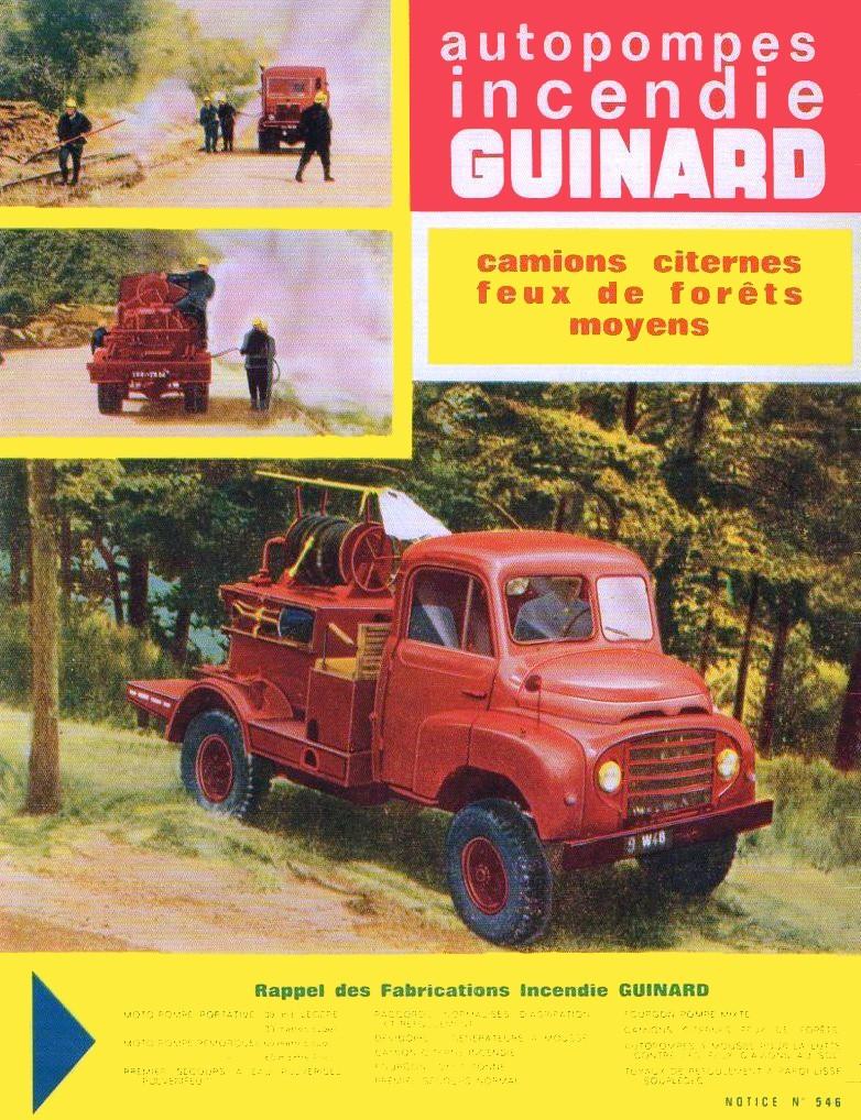 Brochure autopompes d'incendie Guinard sur Citroen U23 Img64311