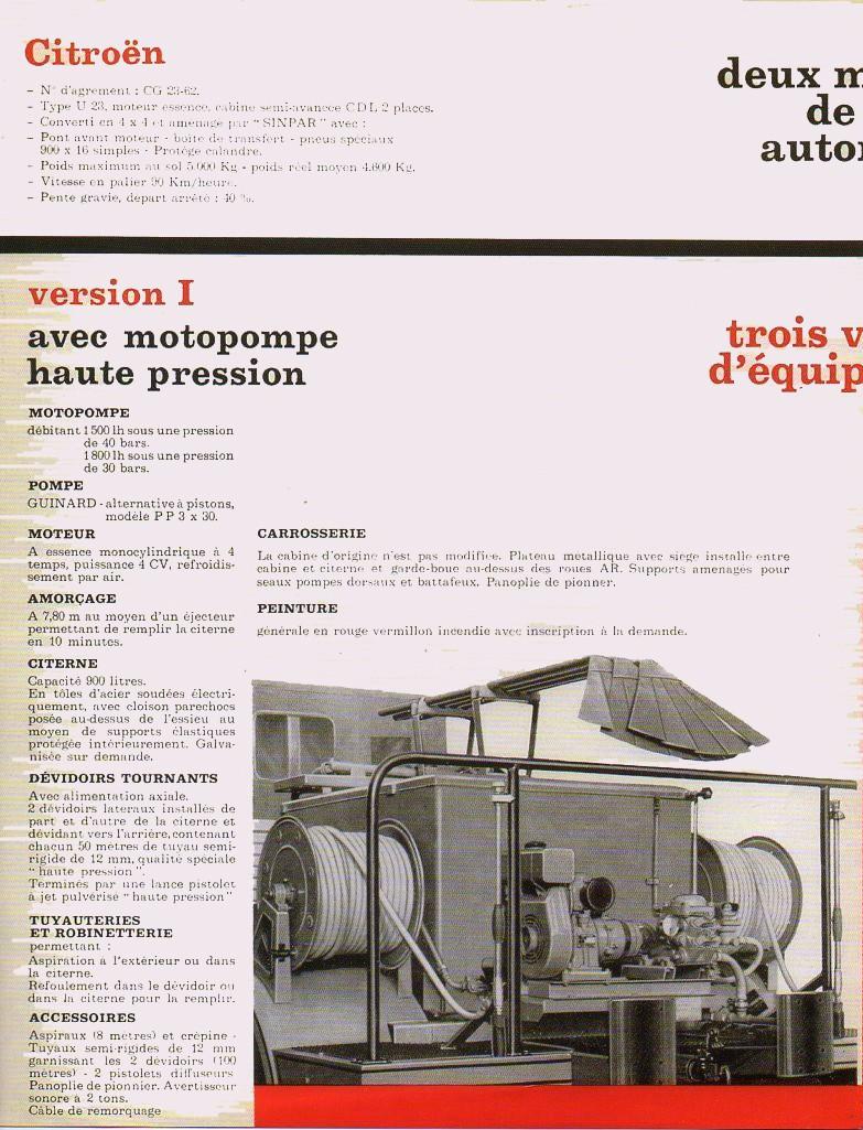 Brochure autopompes d'incendie Guinard sur Citroen U23 Img64411