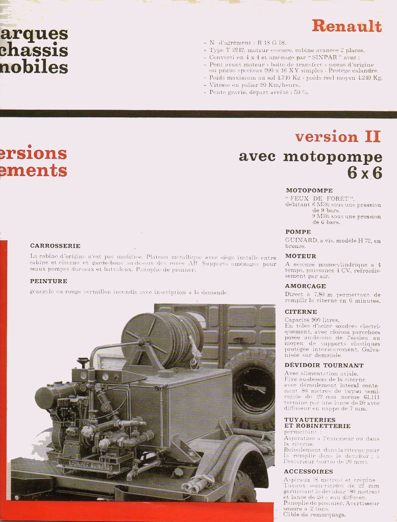 Brochure autopompes d'incendie Guinard sur Citroen U23 Img64511
