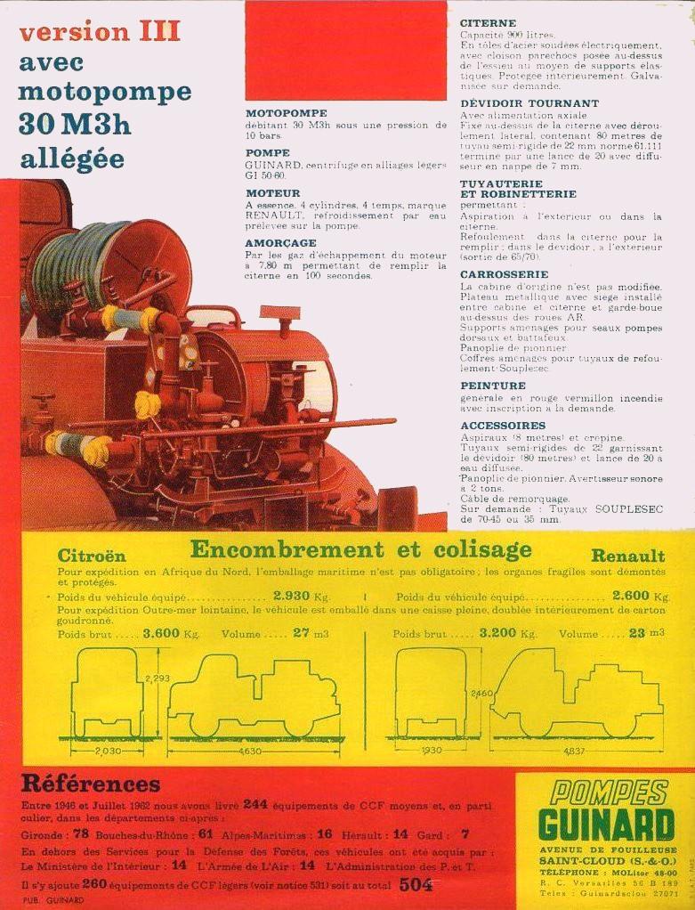 Brochure autopompes d'incendie Guinard sur Citroen U23 Img64611