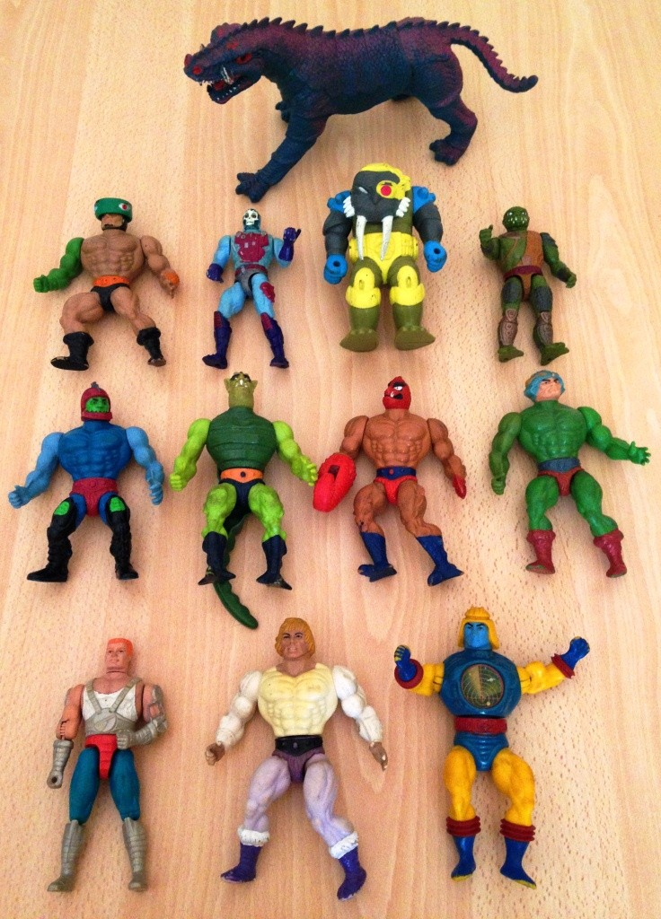 Masters of the Universe - Lotto di 12 personaggi anni '80  00010