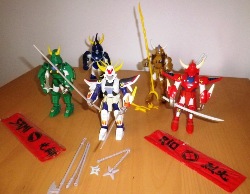 I CINQUE SAMURAI TAKARA/GIG del 1988 - Lotto di 6 personaggi in ottime condizioni 0114
