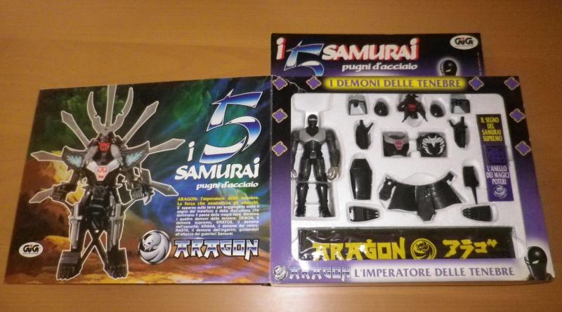 I CINQUE SAMURAI TAKARA/GIG del 1988 - Lotto di 6 personaggi in ottime condizioni 0213