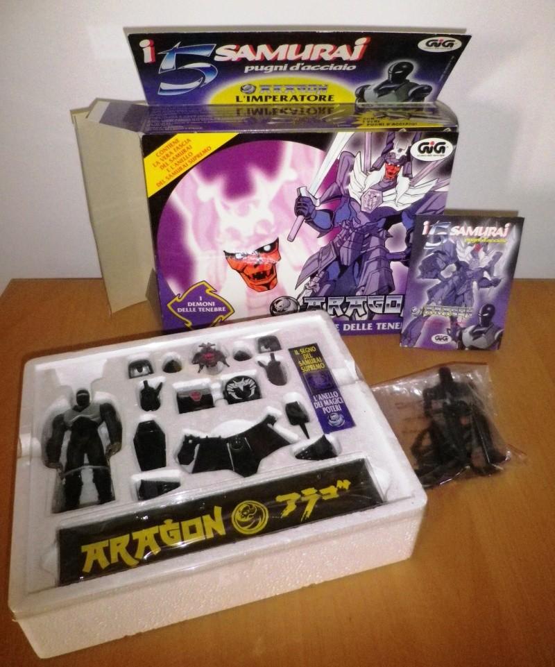I CINQUE SAMURAI TAKARA/GIG del 1988 - Lotto di 6 personaggi in ottime condizioni 0311