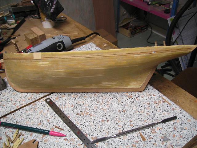 """BISQUINE sur la base """"La Cancalaise"""" Billing Boats 1/40°  Bild0023"""