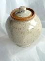 Small lidded stoneware pot - no stamp 2tqtr12