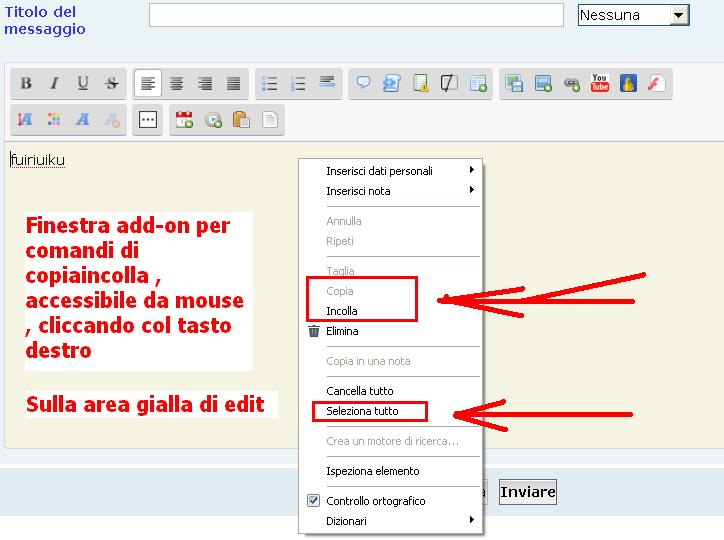 5th >>> istruzioni per l'uso degli editor text  Tuto-q10