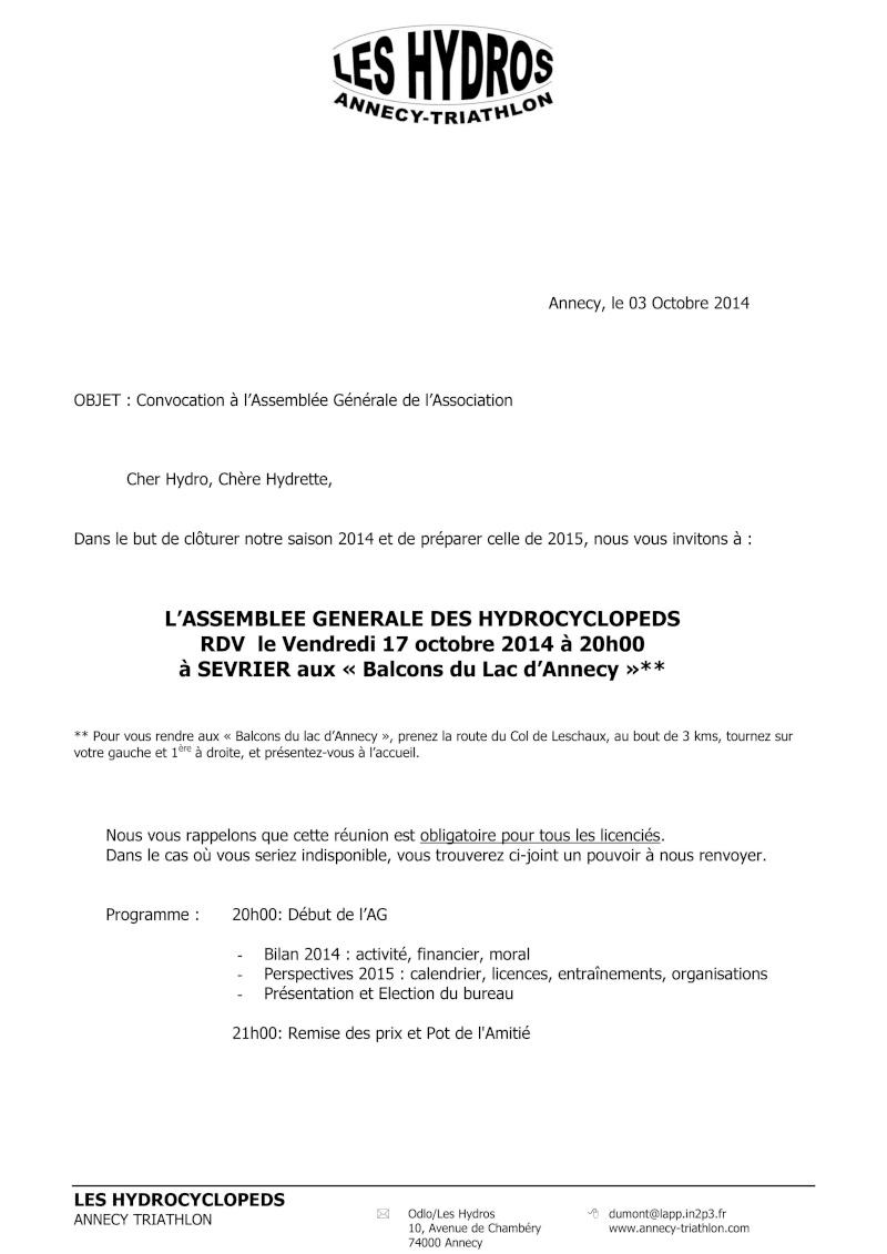 AG du 17 Octobre 2014 Convoc10