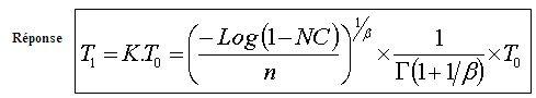 MTBF (ou espérance) sur Weibull à partir d'un échantillon Formul10