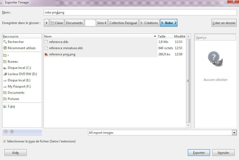 [Apprenti] Recolorer un vêtement du jeu les Sims 4 avec une texture 2715