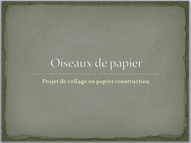 OISEAUX EN PAPIER (DÉCOUPAGE COLLAGE) Oiseau12