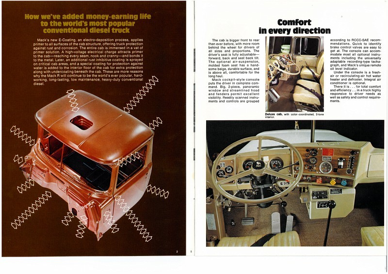 Mack R 700 1971 avec remorque bi train S25c4011