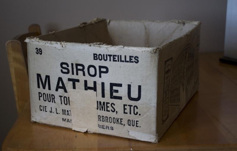 Boîte en carton sirop Mathieu Boie210