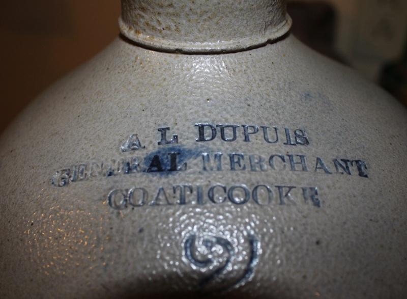 Cruche A.L. Dupuis - Coaticook Signat10