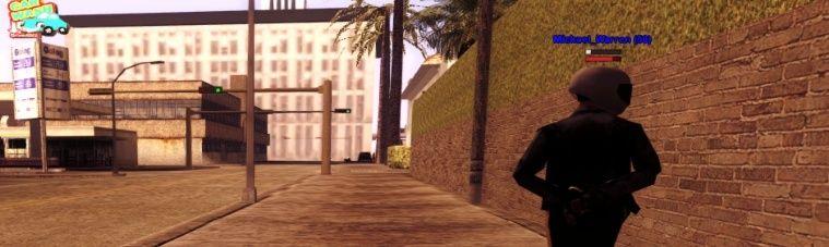 Un officier du LSPD fuyant le quartier d'Idlewood menotté et armé, photographié ! Avic10