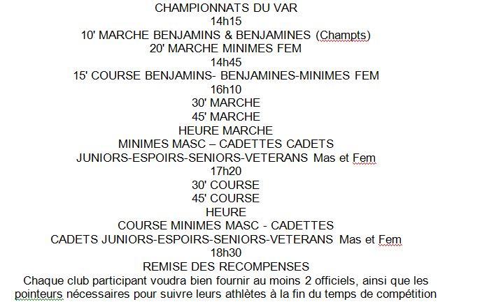 Championnats du Var de Distance Samedi 11 Octobre 1_var10