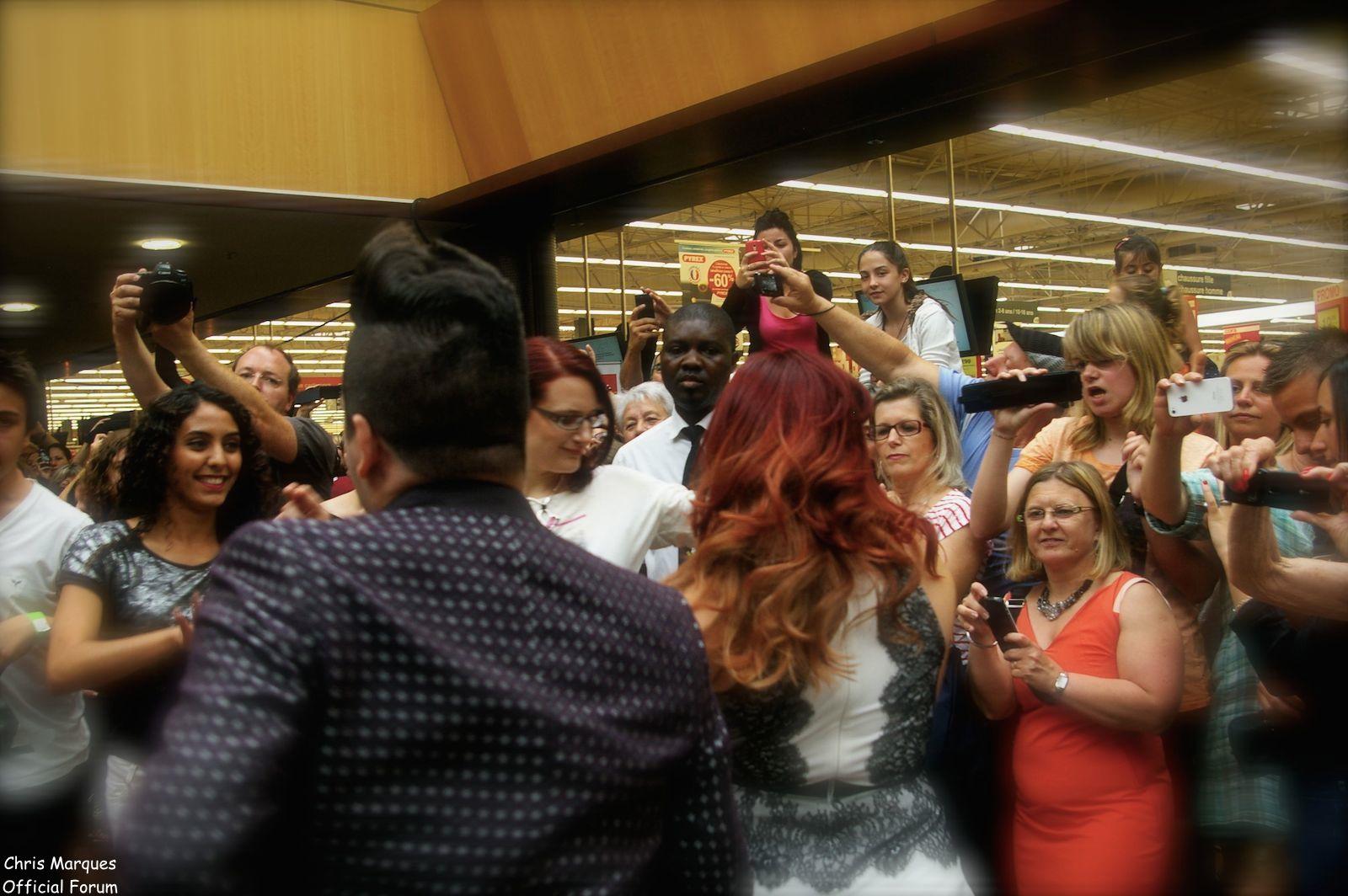 [14.06.2014] Evénement à #Colmar Chris Marques et Jaclyn Spencer pour un Flashmob/Cours de Danse/Dédicaces exceptionnels le tout organisé par la MJC de Colmar 1812
