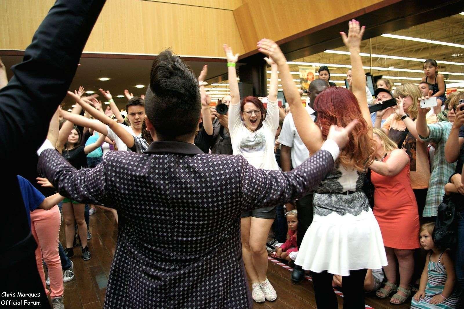[14.06.2014] Evénement à #Colmar Chris Marques et Jaclyn Spencer pour un Flashmob/Cours de Danse/Dédicaces exceptionnels le tout organisé par la MJC de Colmar 2012
