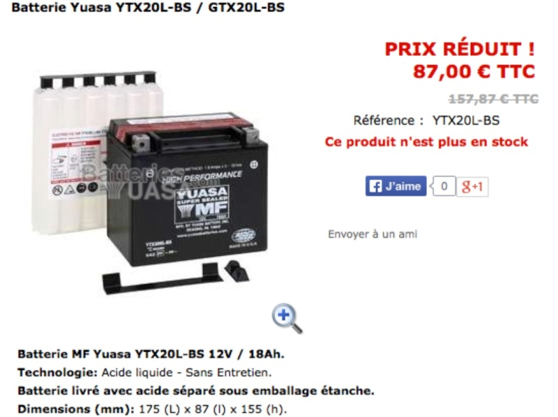 batterie - batterie 1800 Ytx20l10