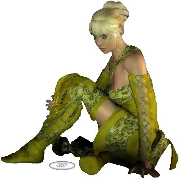 Défi découpe la femme verte (5 points) Femmev10