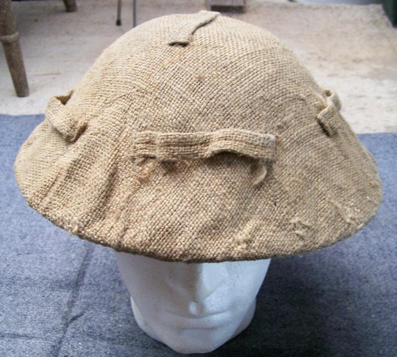 Hessian helmet cover  100_1110