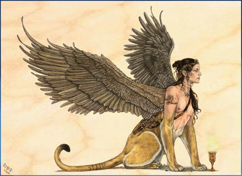Le Sphinx, créature mythologique Sphinx12